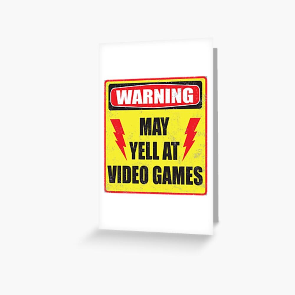 Spielerwarnung Grußkarte