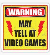 Gamer Warning Sticker