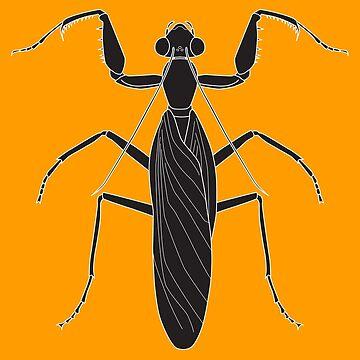 A Halloween Mantis by frostwhiteraven