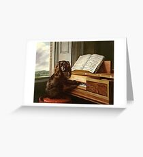 Philip Reinagle - Portrait Of An Extraordinary Musical Dog  Greeting Card