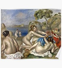 Renoir Auguste - Bathers Playing With A Crab  Poster