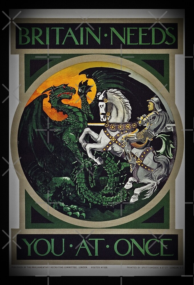 Knight and Dragon WWI by diane  addis
