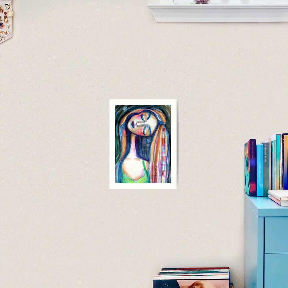 Dreamer Girl, Daydreaming Woman by Meloearth Art Print