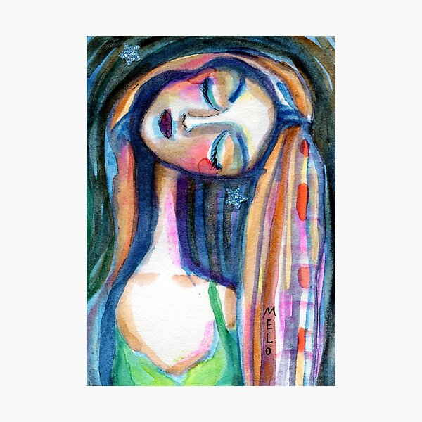 Dreamer Girl, Daydreaming Woman by Meloearth Photographic Print