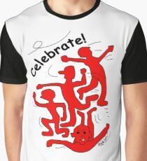 Celebrate! in Red Graphic T-Shirt