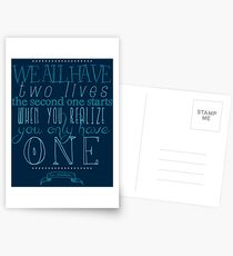 We all have two lives Postcards