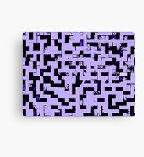 Line Art - The Bricks, tetris style, purple and black Canvas Print