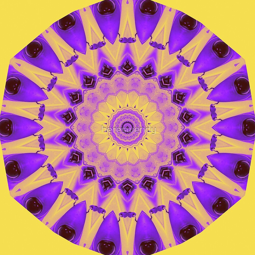 Bold Purple and Gold kaleidoscope by hereswendy