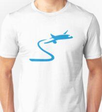 Blue airplane Unisex T-Shirt