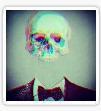 trippy skull face Sticker