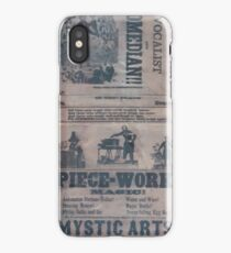 Performing Arts Posters Professor Cummings the celebrated magician vocalist and comedian 0209 iPhone Case/Skin