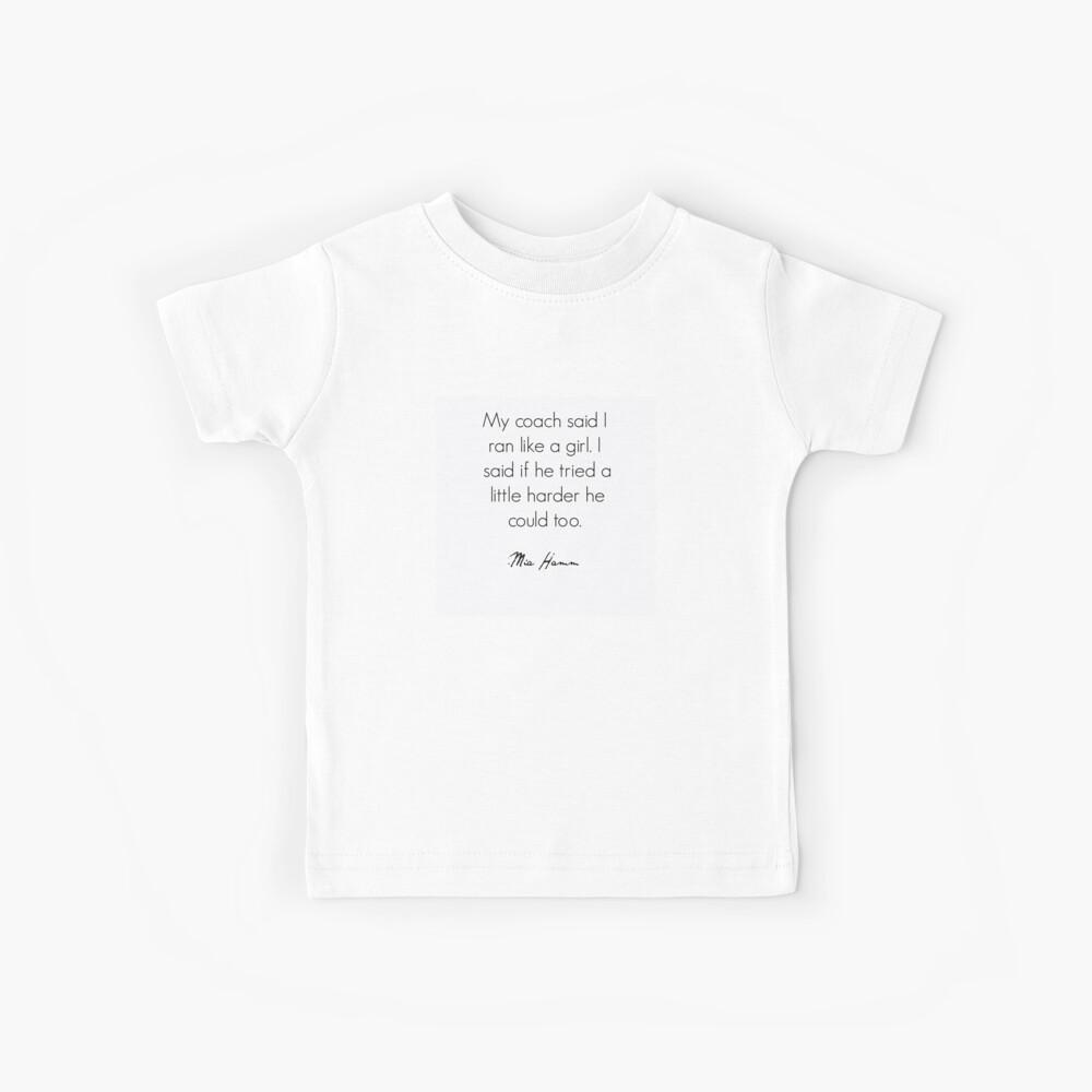 Cita feminista Mia Hamm Camiseta para niños