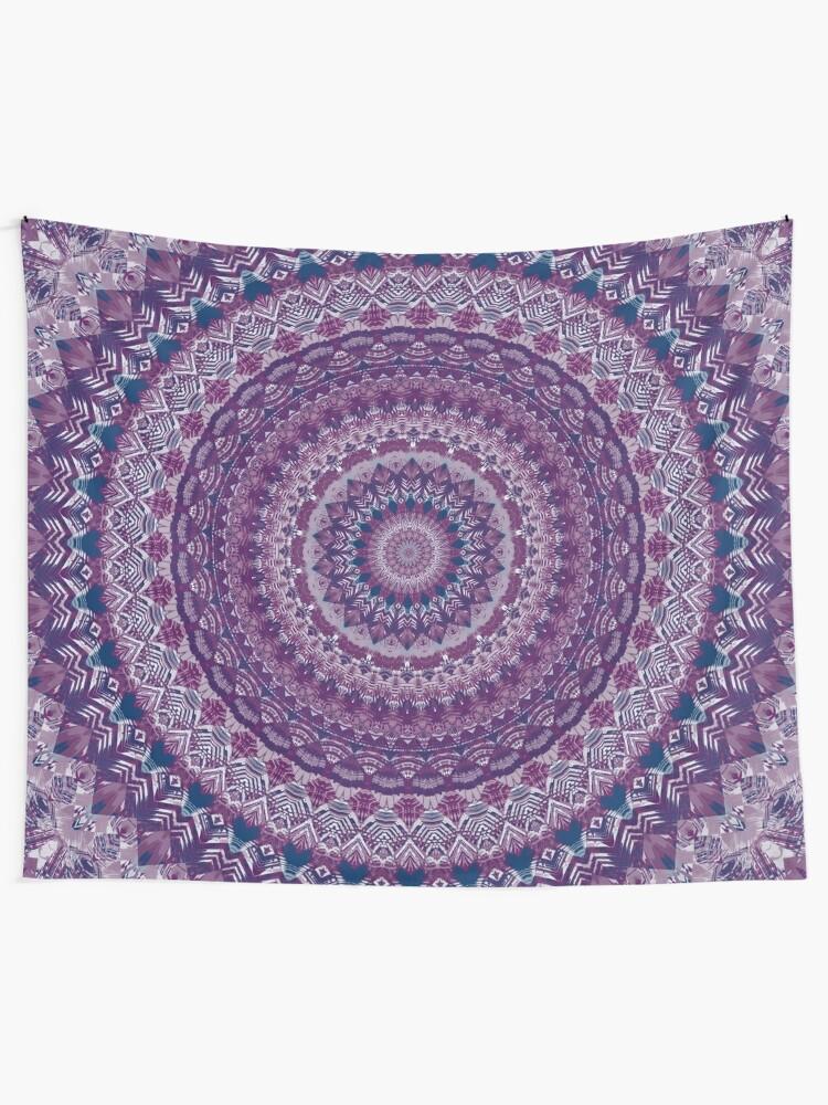 Alternate view of Mandala 123 Tapestry