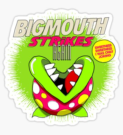 The 80's 8-bit Project - The Big Mouth Sticker