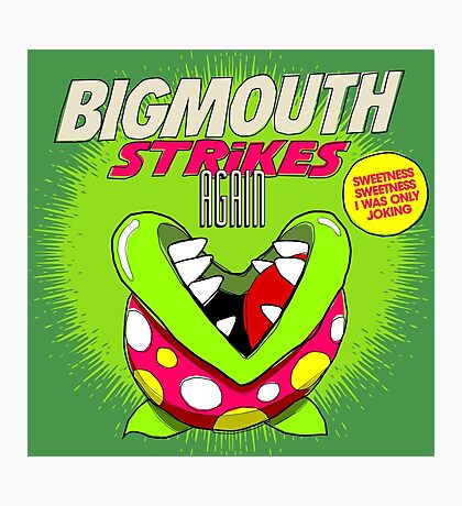 The 80's 8-bit Project - The Big Mouth Photographic Print