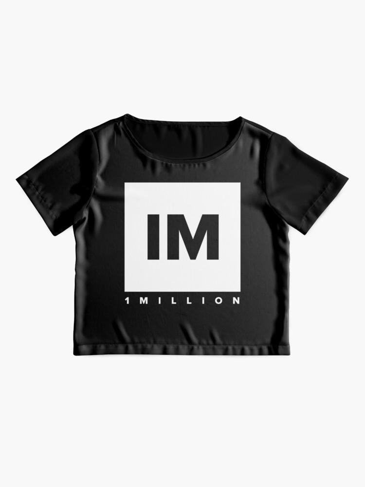 Alternate view of 1 MILLION Dance Studio Logo (White Version) Chiffon Top