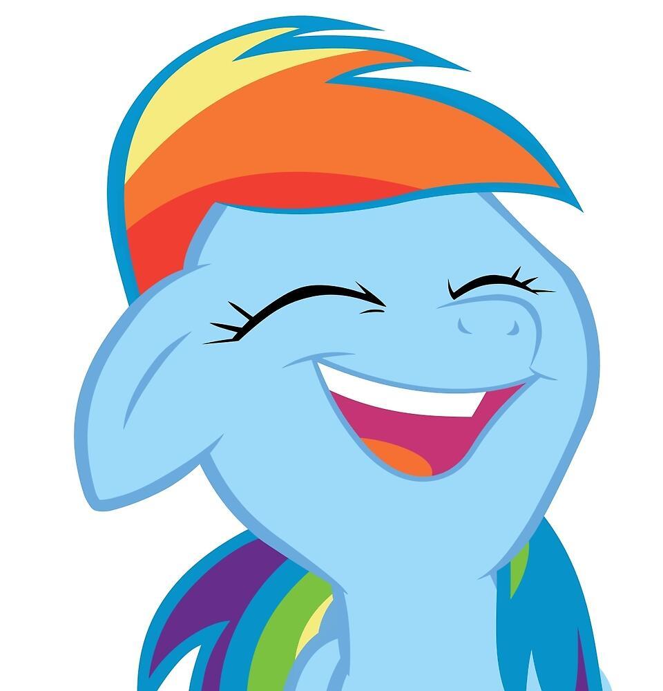 Rainbow Dash, Laugh Edition by natalie-chama