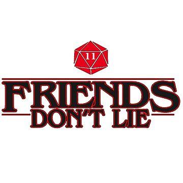 los amigos no mienten de AUDREYHELLADOPE