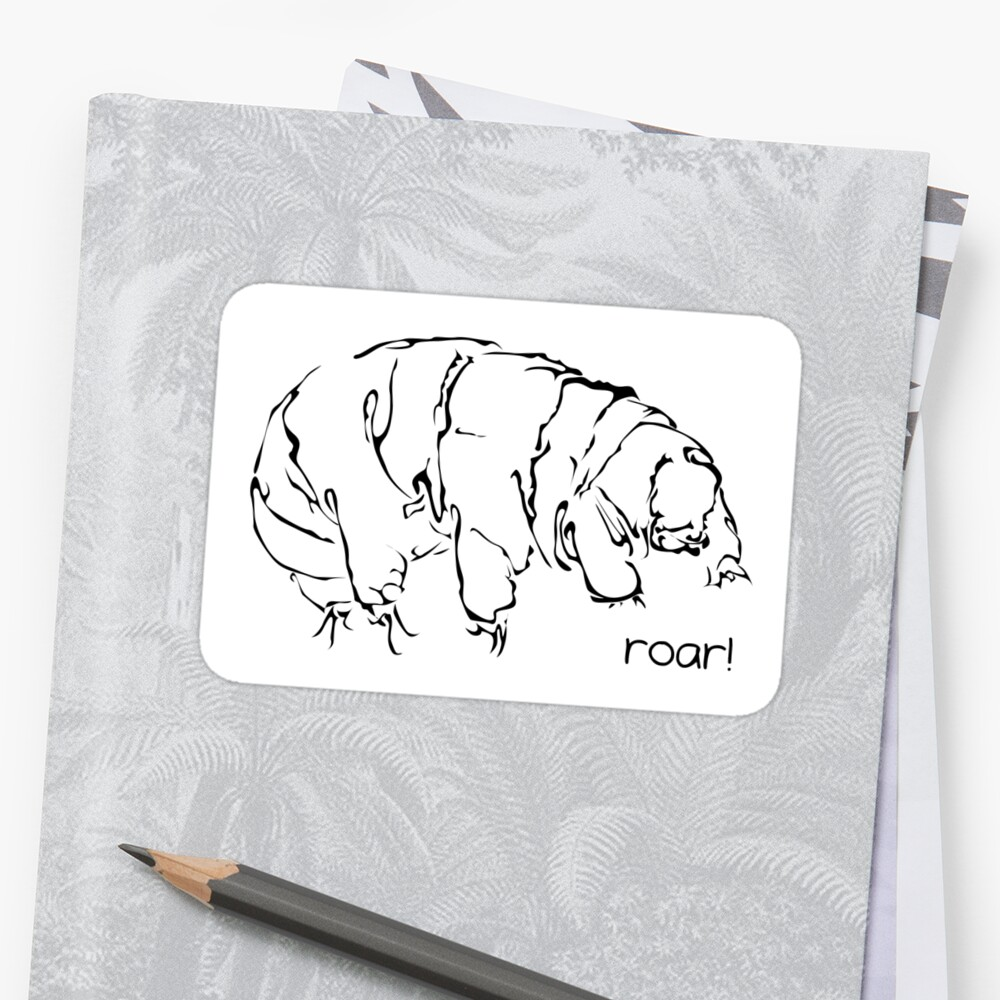 Oh Noes a Water Bear!  Sticker