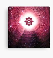 Buddhism (Wheel of Dharma) (Square) Canvas Print