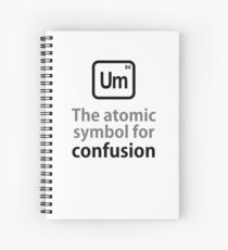 Atomic Symbol for Confusion Spiral Notebook