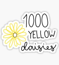 1000 yellow dasies Sticker
