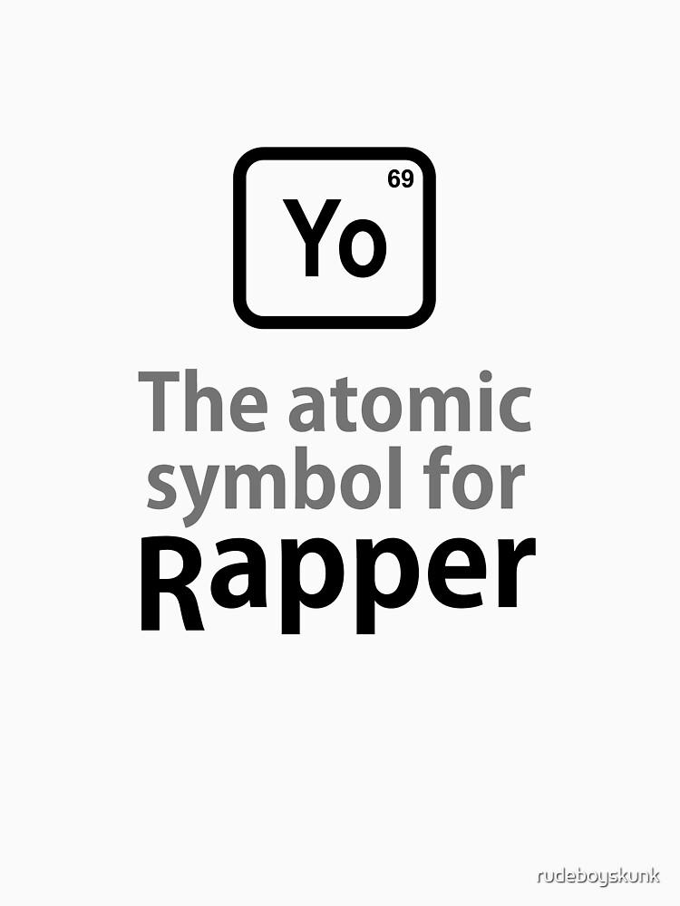 Atomic Symbol for Rapper by rudeboyskunk