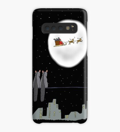 Two Brushtail Possums watching Father Christmas Case/Skin for Samsung Galaxy
