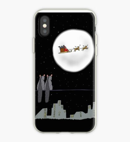 Two Brushtail Possums watching Father Christmas iPhone Case