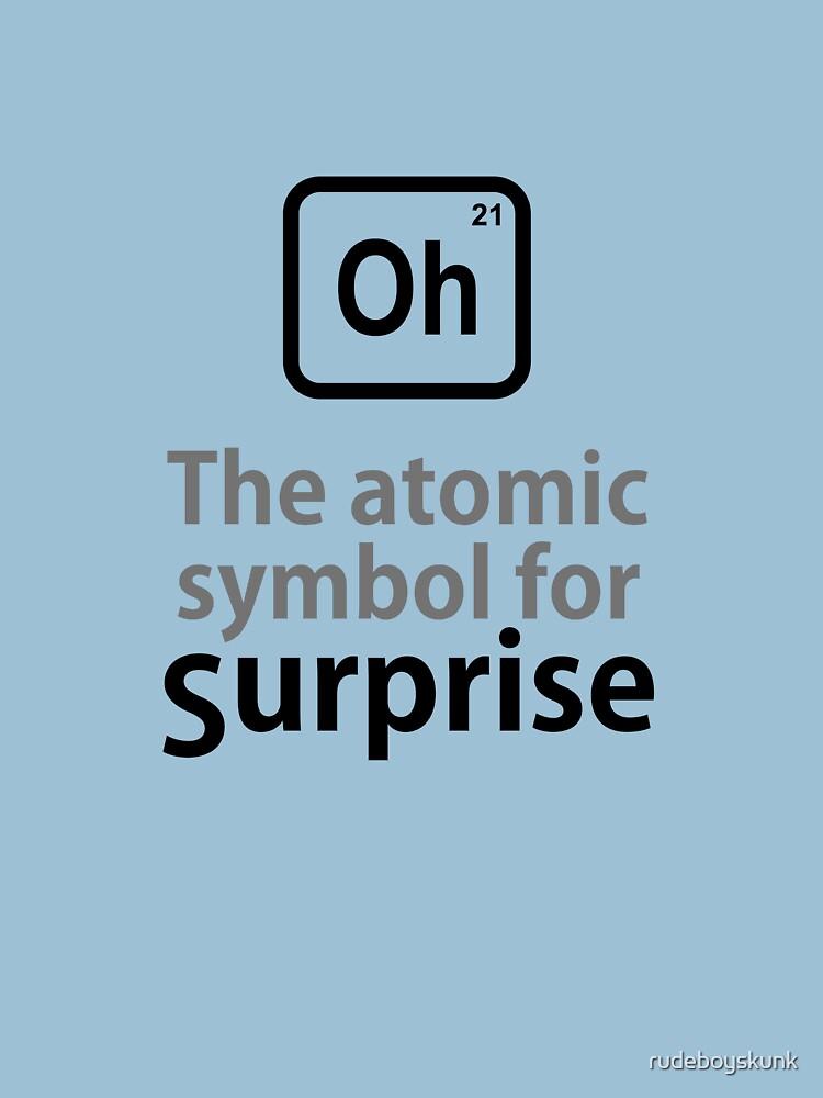 Atomic Symbol for Surprise by rudeboyskunk