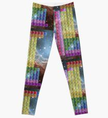Starfield Periodic Table mit 118 Elementnamen Leggings