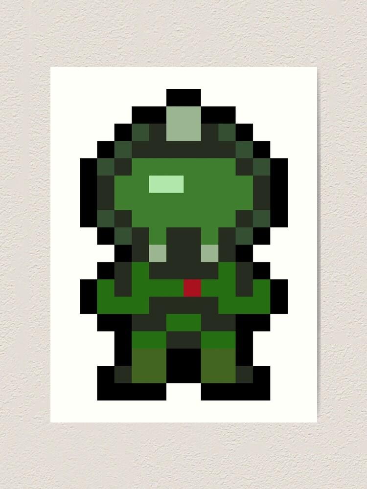 Pixel Doomguy Art Print By Impishmatt Redbubble