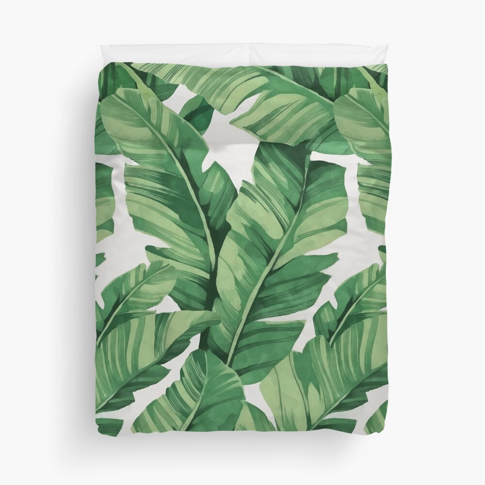 Tropical banana leaves III Duvet Cover