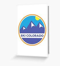 Ski Colorado Badge Greeting Card