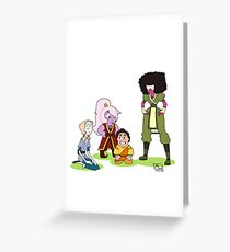 Steven Universe x Avatar: The Last Airbender Crossover Greeting Card