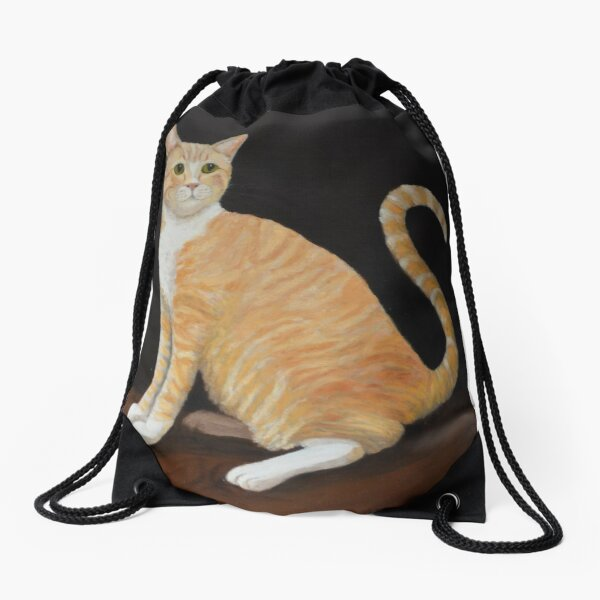 Max the Library Cat of Macalester College Drawstring Bag