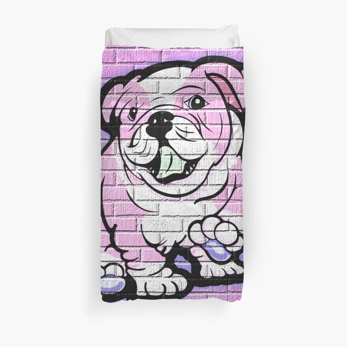 Pink Bull Dog Wall Art by Sookiesooker