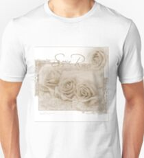 Three Sepia Roses  T-Shirt