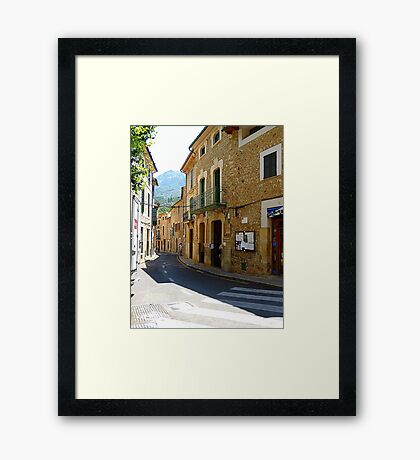 Fornalutx In The Tramuntana Mountains.....................Majorca Framed Print