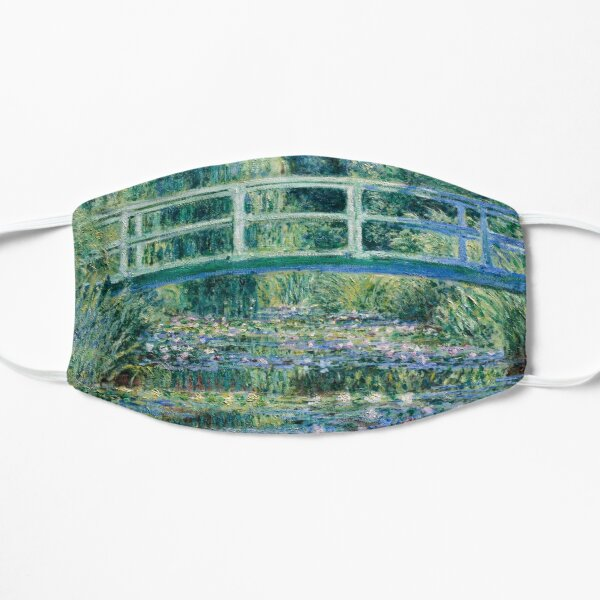 Claude Monet Water Lilies and Japanese Bridge Flat Mask