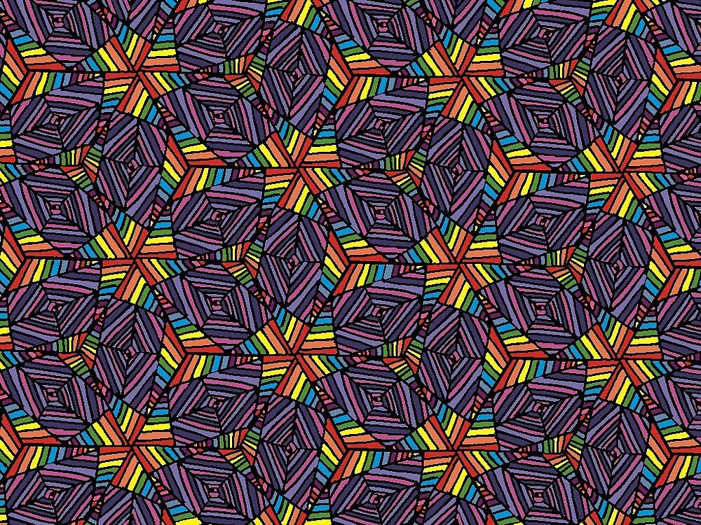Rainbow Pattern by LauraSeaward