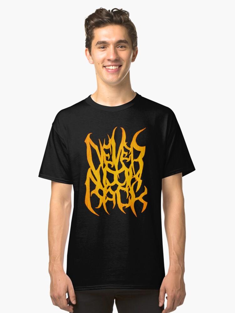 Never Look Back (Orange Logo) Classic T-Shirt Front