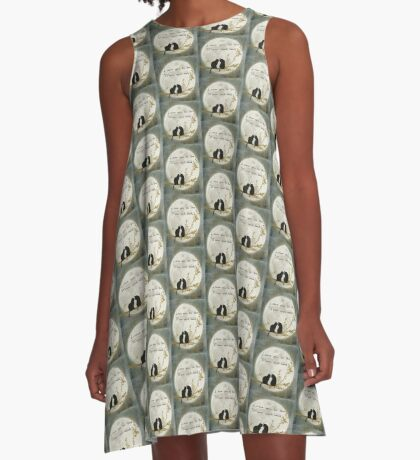 Love you to the moon and back A-Line Dress