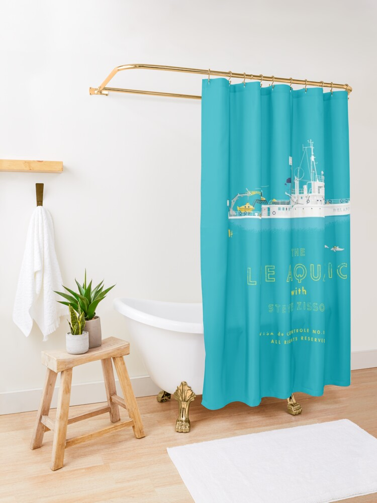 Alternate view of The Life Aquatic with Steve Zissou Shower Curtain