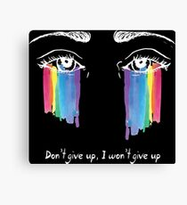 Sia the greatest - don't give up (white) Canvas Print