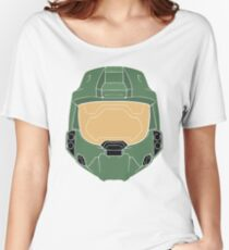 Stencilled Master Chief Women's Relaxed Fit T-Shirt