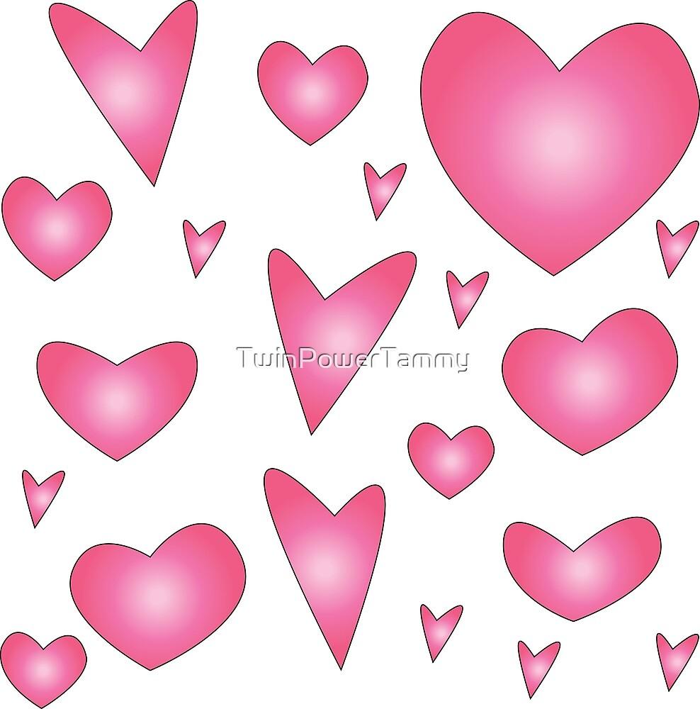 Hearts - Pink by TwinPowerTammy