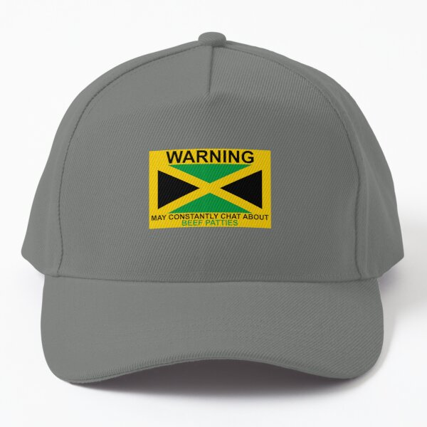 Warning May Constantly Chat About Jamaican Beef Patties Baseball Cap