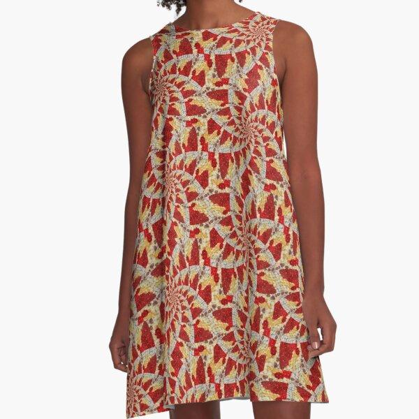 Tiptoe spiral A-Line Dress