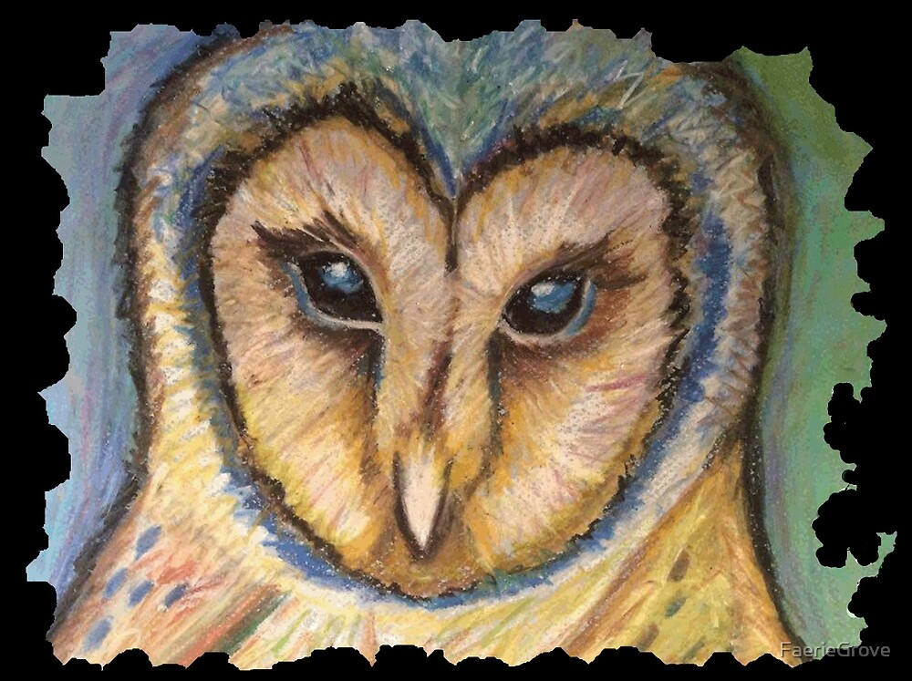 Majestic Owl Oil Pastel by FaerieGrove